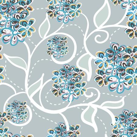 Lila vector naadloze textuur met bloemen