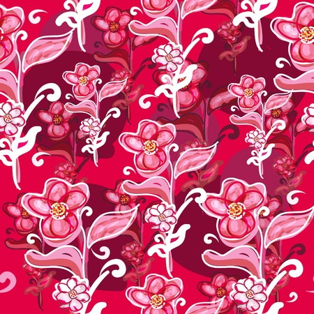 Roses vector seamless texure with glowers Vector