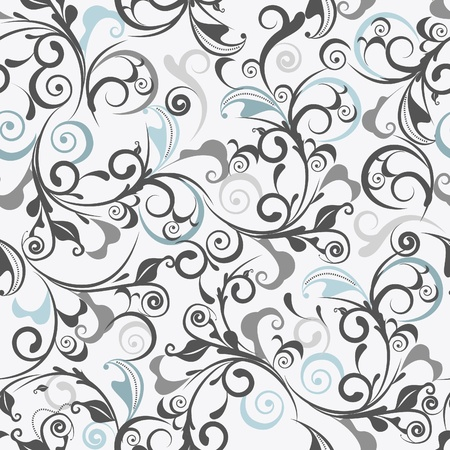 Gray damask Vector