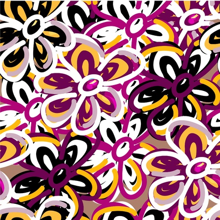 Original seamlessvector background with flowers Stock Vector - 9153287