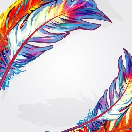 Exotic feather Vector