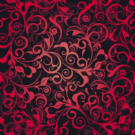 Classic decorative seamless red texture Vector