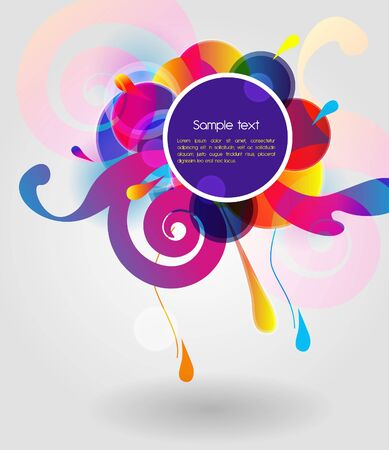 Bright vector shape with flowers Vector