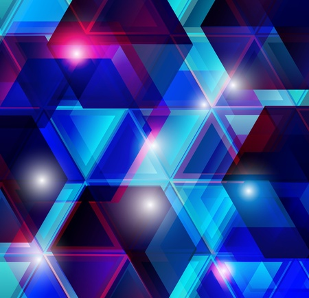 Blue glass vector background Stock Vector - 9190411