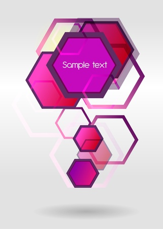 Lilac business background with multicolor shapes