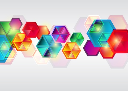 Bright business background with multicolor shapes Vector