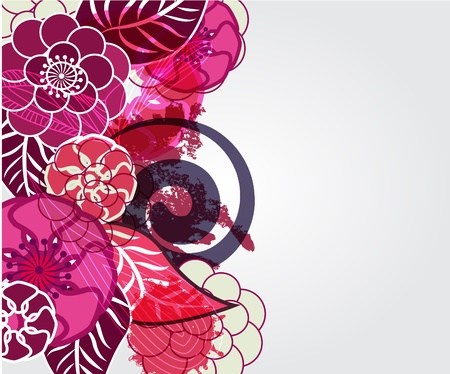 Floral  vector background Stock Photo - 9190386