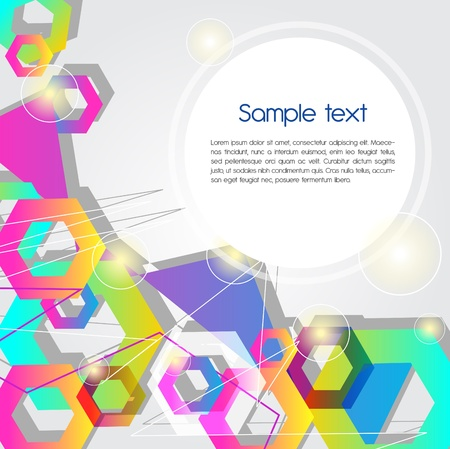 Abstract background with multicolored hexagons Stock Vector - 9393847