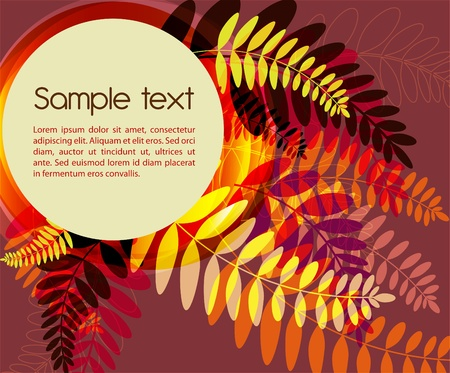 abstract golden background with fern leafs Vector