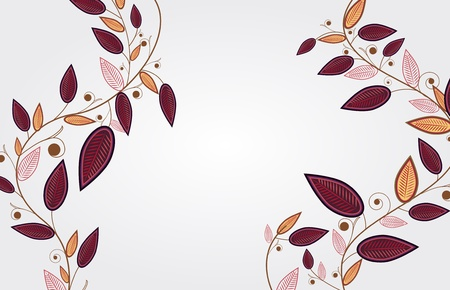 autum: Abstract illustration with elegance branch with leafs Illustration