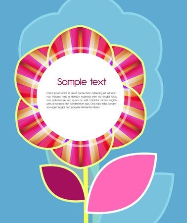 Abstract background with single pink flower Vector