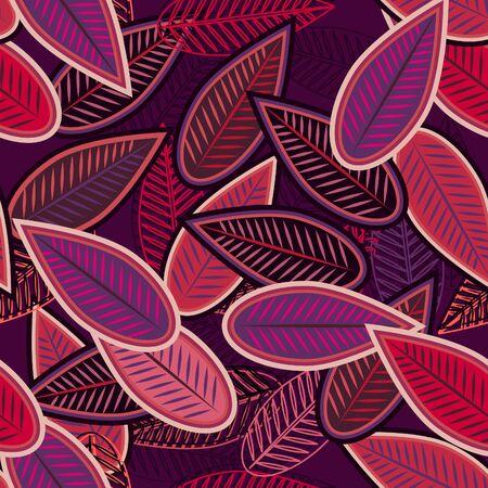 helechos: Hojas de fondo transparente abstracto con lila Vectores