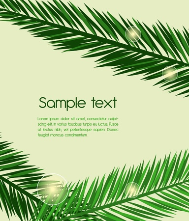 Abstract background with green leafs Vector