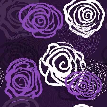 Abstracte violette achtergrond met rozen