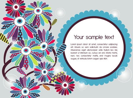 Abstract vector background with flowers Vector