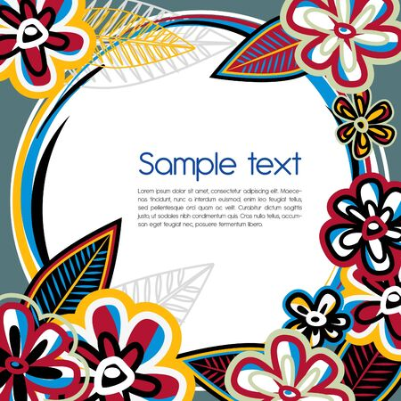 Abstract vector background with bright multicolor flowers Vector