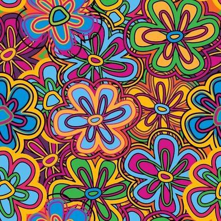 Texture homogène de vecteur lumineux avec des fleurs éclatantes