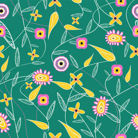 Abstract vector background with fantastic flowers Vector