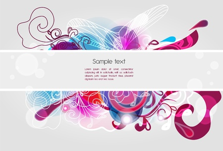 Abstract composition with briight pattern Vector