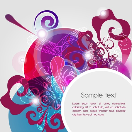 Bright composition with abstract pattern Vector