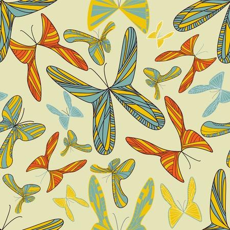 canvas print: Fondo claro con brillante mariposa multicolor Vectores
