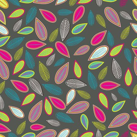 Abstract light background with multicolor leafs Vector