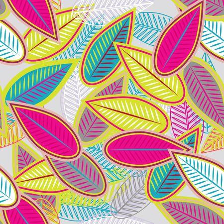 canvas print: Fondo claro abstracto con hojas multicolores Vectores