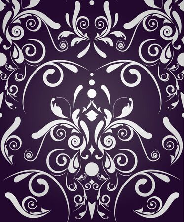 Dark violet seamless texture with damask pattern Stock Vector - 9585358