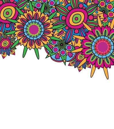 figli dei fiori: Abstract background vector fantastico con fiori brillante