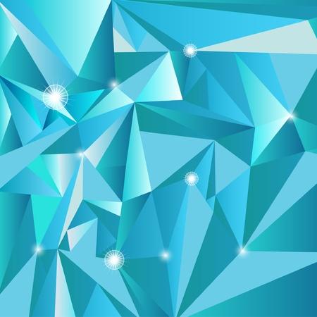 Abstract triangle blue vector texture Vector