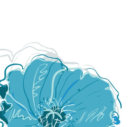 congratulatory: Abstract elegance vector background with blue flowers
