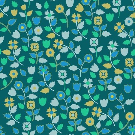 flores peque�as: Fondo de pantalla azul vector transparente con peque�as flores