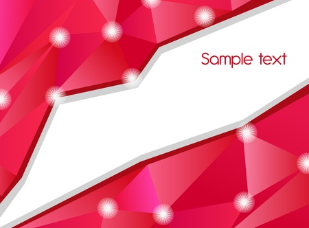 Abstract pink vector background with triangle shapes Vector