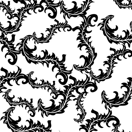Abstract seamless vector texture with black pattern Stock Vector - 9765168