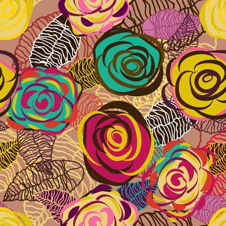 canvas print: Textura abstracta vector Lila transparente con rosas brillantes de dibujo