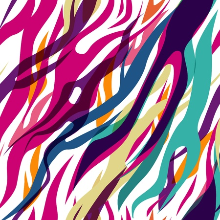 Abstract seamless vector multicolor zebra pattern
