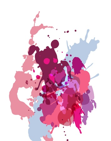 blob: Vector lilac grunge watercolor splash Illustration