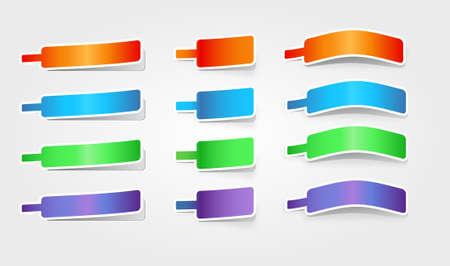 Abstract multicolor vector web elements set Stock Vector - 9765207