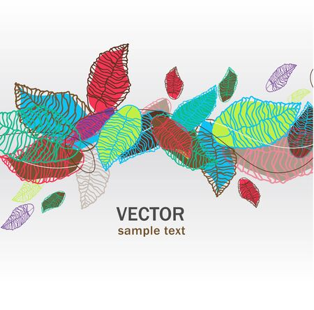Abstract light vector background with bright leafs Vector