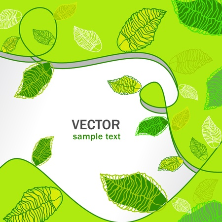 abstract vector floral green background Stock Vector - 9761651