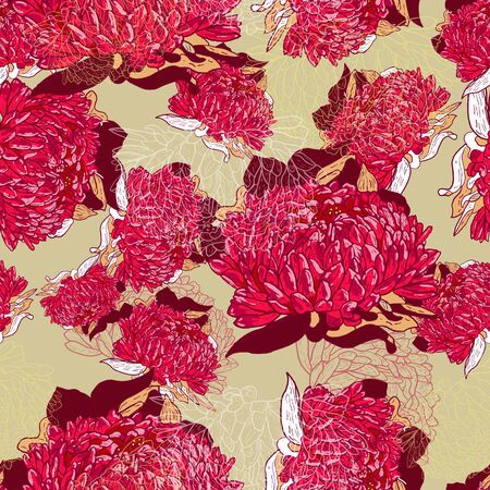canvas print: Textura transparente rosa con flores