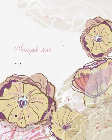 abstract vector floral multicolor background with bright leafs and flowers Vector