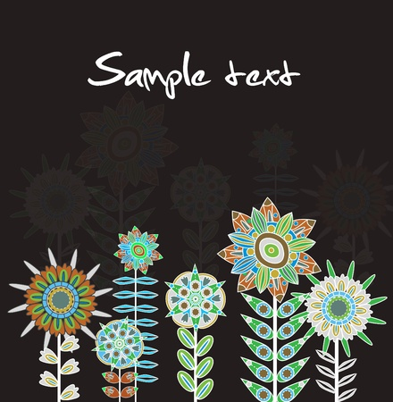 Abstract elegance vector background with brown flowers Vector