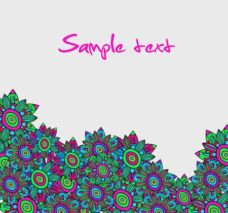 Abstract elegance vector background with bright neon flower Vector