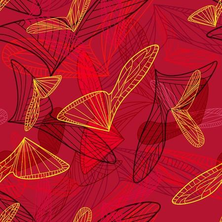 tegelwerk: Abstracte rode achtergrond met geometrische vormen Stock Illustratie