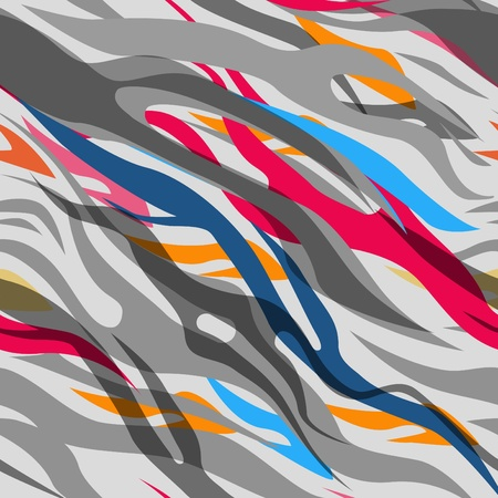 african fabric: abstract seamless vector texure. Multicolor zebra pattern