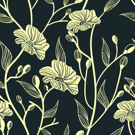 Patrón oscuro Abstract vector transparente con luz flores