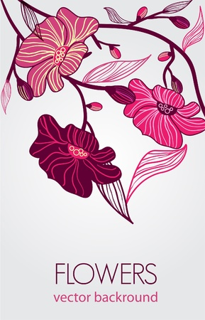 lilac flower: Abstract blight vector  banners with drawing bright flowers
