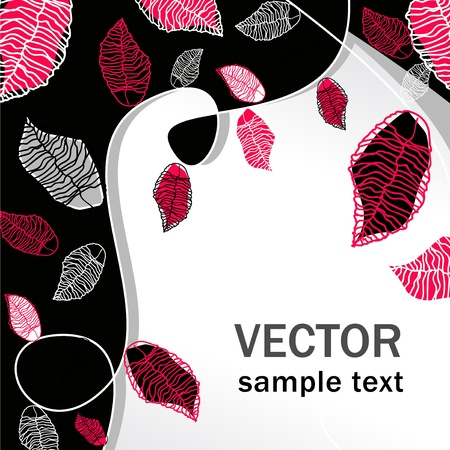 abstract vector floral multicolor background Vector