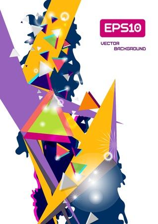 Vector 3d trendy abstract background Vector